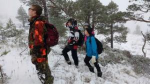 Elever fra Molde Friskole på jakt i fjor
