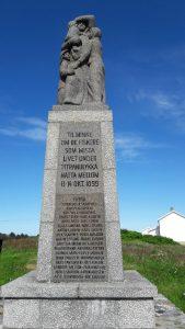 Minnestøtta over de som kom bort på havet stormnatta i 1899